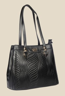 Esbeda Black Synthetic Textured Shoulder Bag - Mp000000000621979