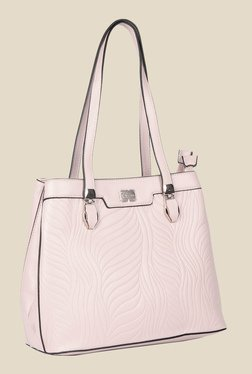 Esbeda Pink Synthetic Textured Shoulder Bag - Mp000000000621980
