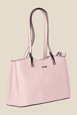 Esbeda Pink Synthetic Textured Shoulder Bag - Mp000000000621982