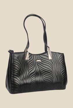 Esbeda Black Synthetic Textured Shoulder Bag
