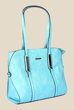 Esbeda Blue Synthetic Textured Shoulder Bag