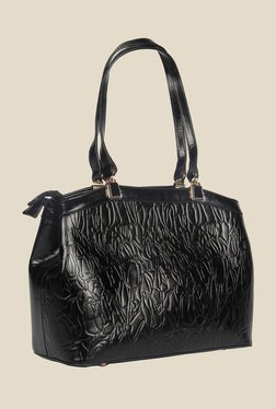 Esbeda Black Synthetic Textured Shoulder Bag