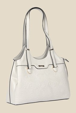 Esbeda White Synthetic Textured Shoulder Bag - Mp000000000622050