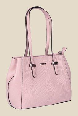 Esbeda Pink Synthetic Textured Shoulder Bag