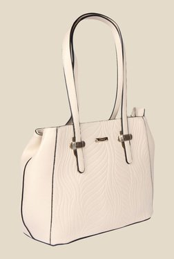 Esbeda Beige Synthetic Textured Shoulder Bag - Mp000000000622069