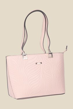 Esbeda Pink Synthetic Textured Shoulder Bag