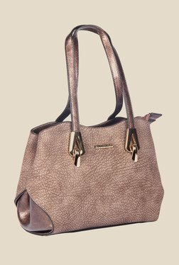Esbeda Brown Synthetic Textured Shoulder Bag