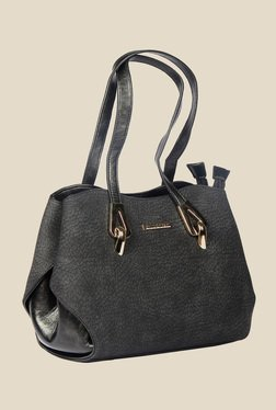 Esbeda Black Synthetic Textured Shoulder Bag - Mp000000000622110
