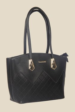 Esbeda Black Synthetic Textured Shoulder Bag - Mp000000000622113