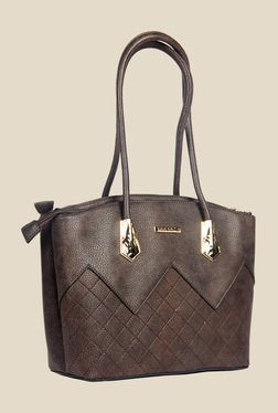 Esbeda Brown Synthetic Textured Shoulder Bag - Mp000000000622136
