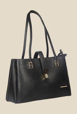 Esbeda Black Synthetic Solid Shoulder Bag