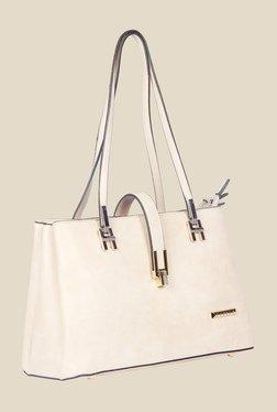 Esbeda Beige Synthetic Solid Shoulder Bag