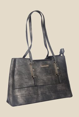 Esbeda Black Synthetic Textured Shoulder Bag - Mp000000000622158