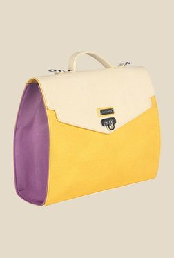 Esbeda Yellow Synthetic Textured Sling Bag