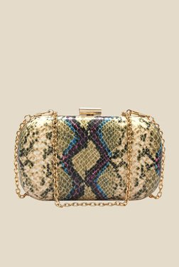 Globus Green Textured Clutch