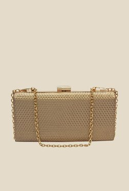 Globus Golden Textured Clutch