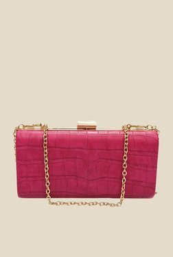 Globus Fuchsia Textured Clutch