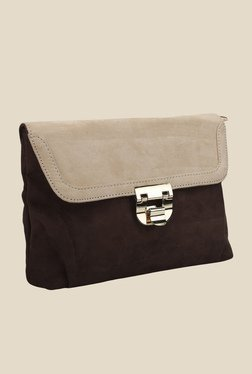 Lino Perros Brown Solid Clutch