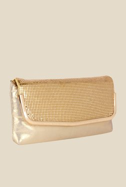 Lino Perros Golden Textured Clutch
