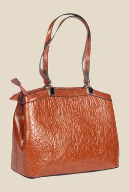 Esbeda Brown Synthetic Textured Shoulder Bag - Mp000000000622827
