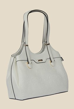 Esbeda Grey Synthetic Textured Shoulder Bag