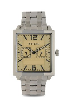 Titan NH1678SM02 Formal Steel Analog Watch For Men