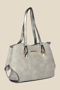 Esbeda Grey Synthetic Textured Shoulder Bag