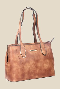 Esbeda Brown Synthetic Textured Shoulder Bag - Mp000000000622845
