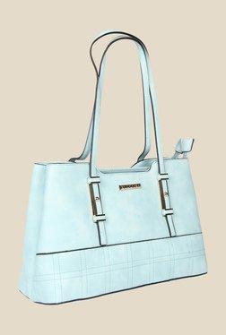 Esbeda Blue Synthetic Solid Shoulder Bag