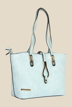 Esbeda Blue Synthetic Solid Shoulder Bag