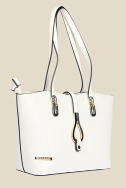 Esbeda White Synthetic Solid Shoulder Bag