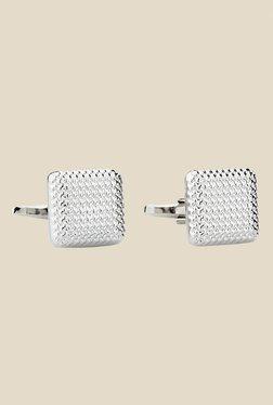 Satya Paul Silver Textured Metal Cufflinks - Mp000000000623467