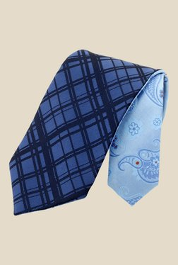 Satya Paul Blue Plaid Tie