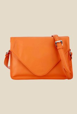 Satya Paul Orange Leather Sling Bag