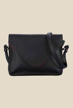 Satya Paul Black Leather Sling Bag