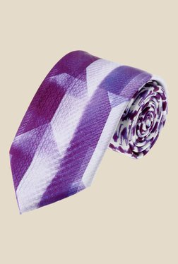 Satya Paul Purple Textured Silk Tie