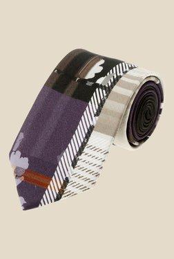 Satya Paul Multicolour Textured Silk Tie