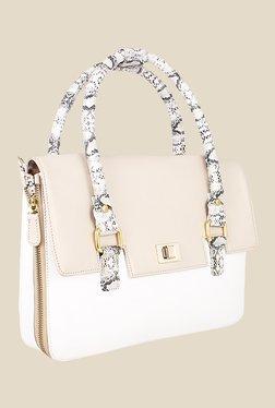 Zaera White Solid Sling Bag