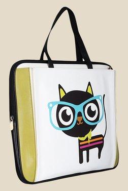 Zaera Green Printed Laptop Bag