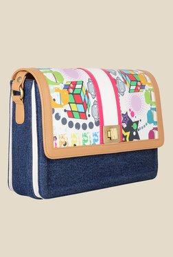 Zaera Blue Printed Sling Bag