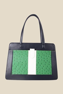 Zaera Black Textured Shoulder Bag