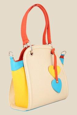 Zaera Beige Solid Shoulder Bag