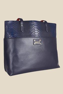 Zaera Navy Solid Shoulder Bag - Mp000000000625141