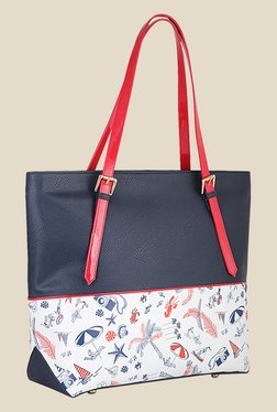 Zaera Navy Solid Shoulder Bag