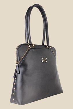 Zaera Black Solid Shoulder Bag