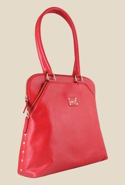 Zaera Red Solid Shoulder Bag