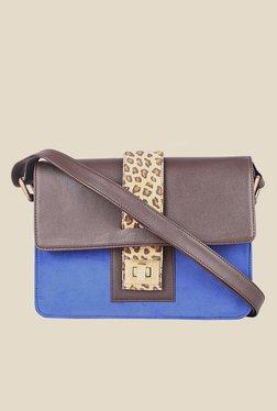 Zaera Blue Printed Sling Bag - Mp000000000625185