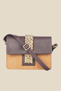 Zaera Tan Printed Sling Bag