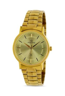 Maxima 29250CMGY Formal Gold Analog Watch For Men