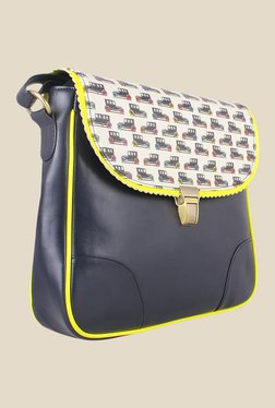 Zaera Navy Printed Sling Bag